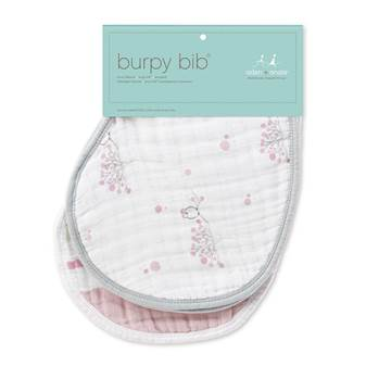 Set 2 Bavaglini Burpy FOR THE BIRDS Owl/Paint Brush Stripe