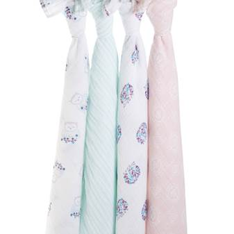 set 4 copertine Swaddle thistle