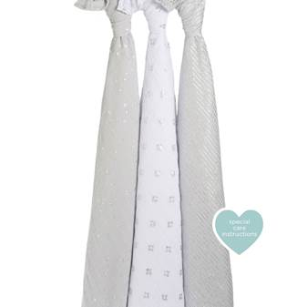 set 3 copertine Swaddle Metallic charm