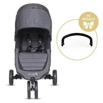 Passeggino City Mini 3 Charcoal + Maniglione Di Sicurezza