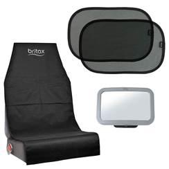 Set 3 pezzi protezione sedile, tendine e specchio