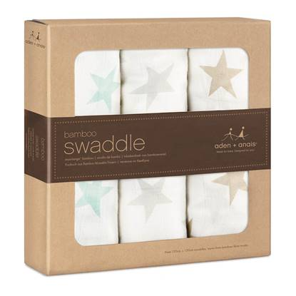 Set 3 Copertine Swaddle Bamboo MILKY WAY