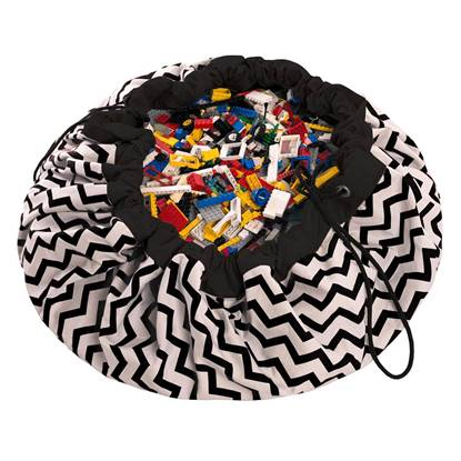 Picture of Storage Bag ZIG ZAG BLACK