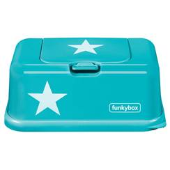 Picture of Baby Wipes Dispenser Aqua White Star
