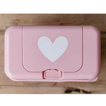 Picture of Baby Wipes Dispenser Pink White Hearts