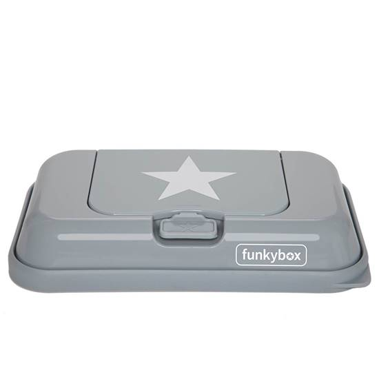 Picture of Baby Wipes Dispenser to go Grey White Star
