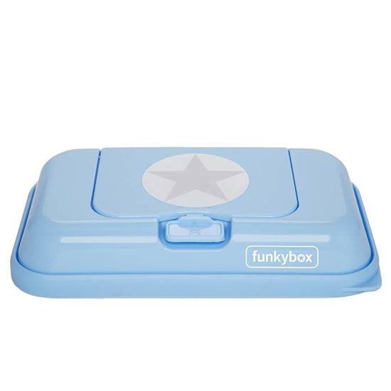 Picture of Baby Wipes Dispenser to go Baby Bleu Silver Star