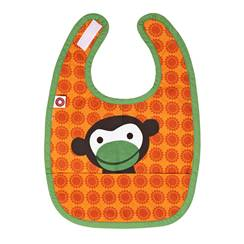 Picture of Orange monkey Eat bib