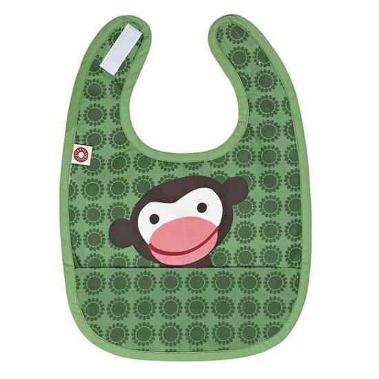 Picture of Green monkey Eat bib