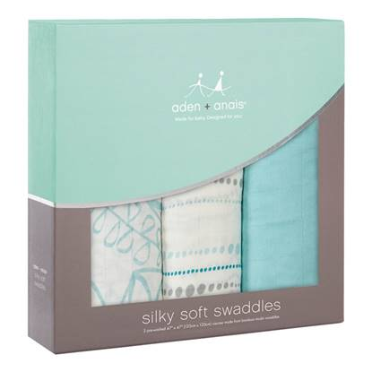 Picture of Swaddle Silky Soft azure (pack 3)
