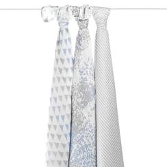 Picture of Silky Soft Swaddle METALLIC BLUE MOON - 3 pz