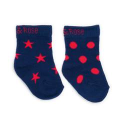 Picture of navy & red socks