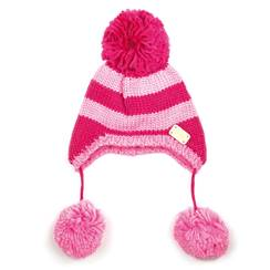 Picture of pink stripe bobble ha