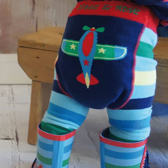 Picture of plane 00-06 months leggings