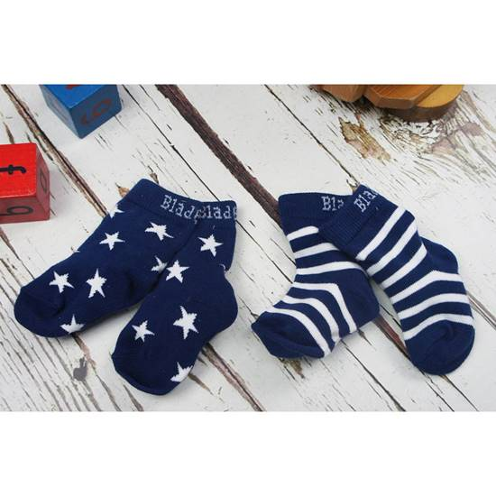 Picture of navy stripe/star 06-12 m socks