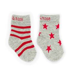Picture of marl grey & red socks