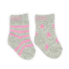 Picture of marl grey & pink socks