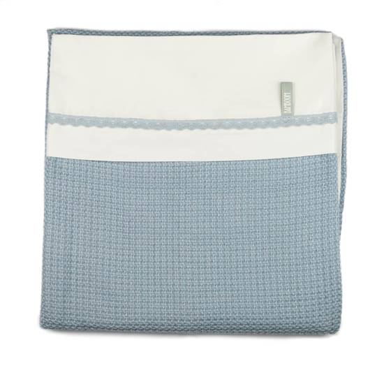 Picture of Crib bed Duvet Cover Soft Stone Light Blue