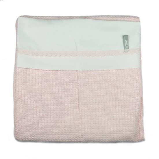 Picture of Crib bed Duvet Cover Soft Stone Pink