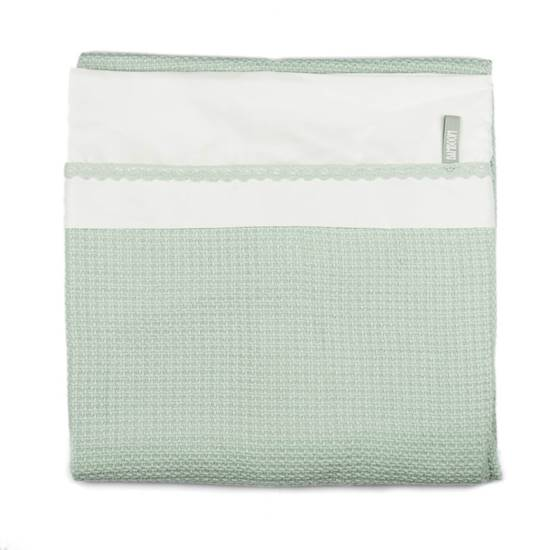 Picture of Crib bed Duvet Cover Soft Stone Green