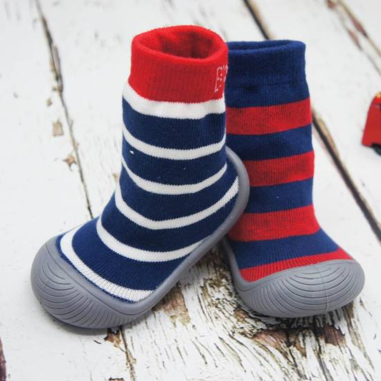Picture of boys stripe sock shoes 12.5 cm