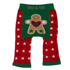 Picture of red gingerbread leggings