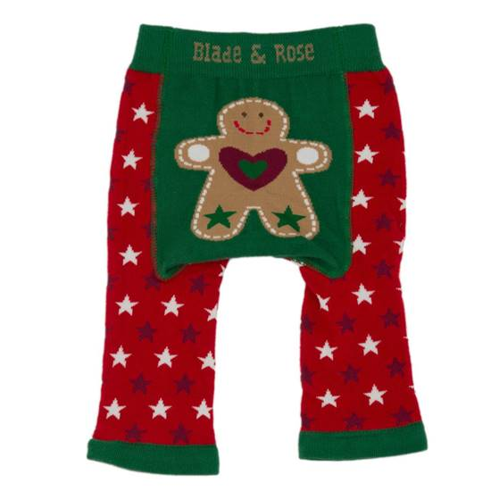Picture of red gingerbread 00-06 months leggings