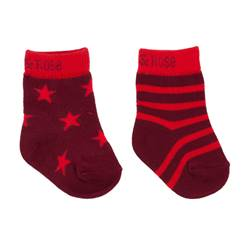 Picture of two tone red socks