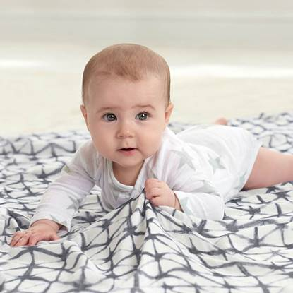 set 3 copertine Swaddle Silky Soft pebble shibori black