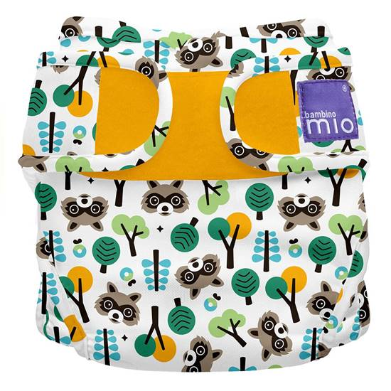 Picture of MIOSOFT Nappy Cover size 2 Raccoon Retreat