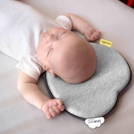 Picture of Lovenest original Baby pillow smokey