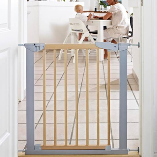 Picture of Safety Gate Avantgarde Natural Wood/Silver