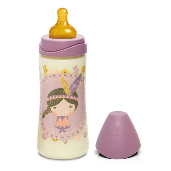 Picture of BABY BOTTLE ROUND LATEX TEAT 360ML INDIO PINK