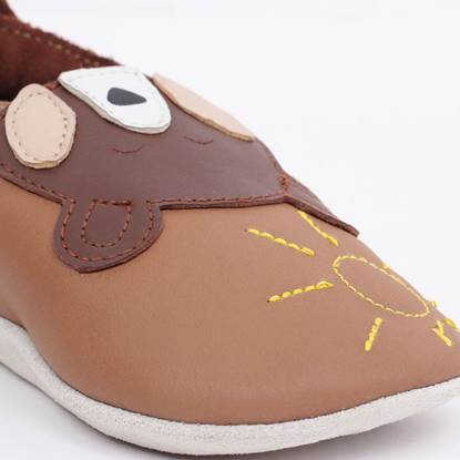 Scarpina Soft Sole Orso Caramello