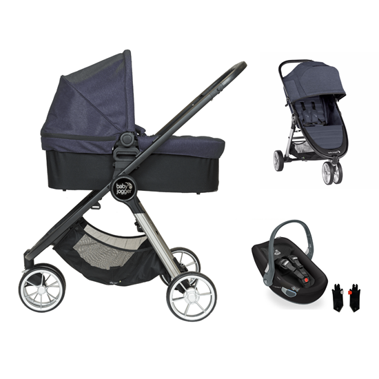Picture of 3 in 1 Pram System City Mini2 3 wheels Carbon