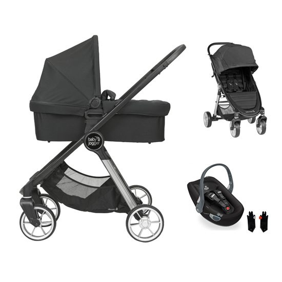 Picture of 3 in 1 Pram System City Mini2 4 wheels Jet